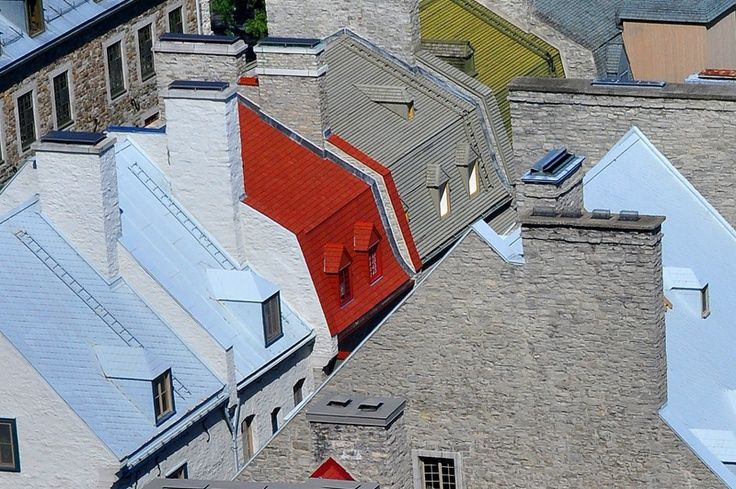 toitures du Vieux-Qu茅bec - Quebec, Quebec