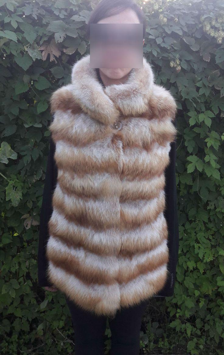 real Canadian Red FOX Fur Vest FULL SKIN - Kanadisch -Rotfuchs Pelzweste - Gilet di Pelliccia - канадская красная лисица меховой жилет by DamianKastorianFurs on Etsy