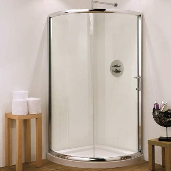Hydrolux 900mm Single Door Quadrant Shower Enclosure 6mm with Tray