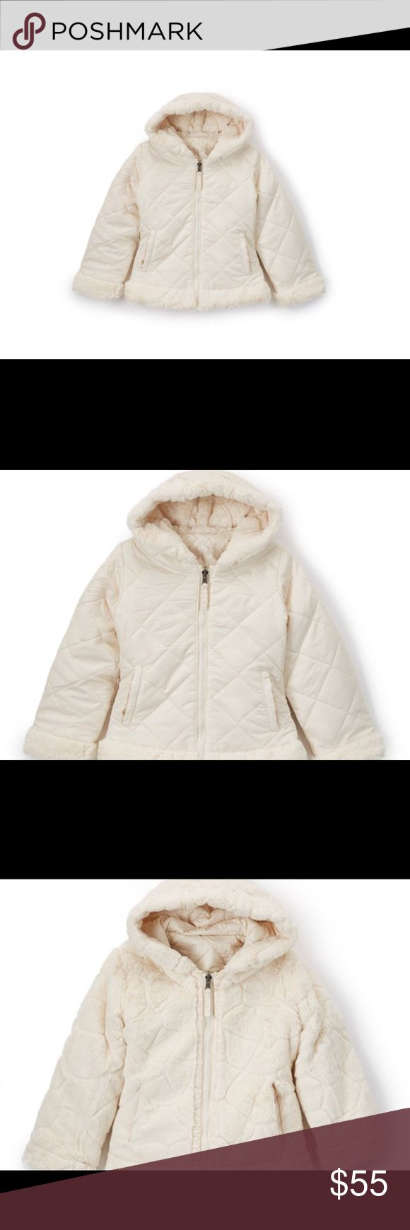 NWT Hawke & Co Winter Reversible Coat Milk Shake Reversible Quilted Jacket Coat - Girls Hawke & Co.  This cozy quilted coat jacket boasts a reversible design that lends added styling options to a cold-weather outfit while ensuring comfortable warmth.  100% polyester Machine wash; tumble dry Imported Brand new with tags. Hawke & Co Jackets & Coats