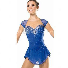 Vestido de Patinaje Sobre Hielo Mujer Sin Mangas Deportes de Nieve Descenso Vestidos Alta elasticidad Figura vestido de patinajeDiseño 2017 - €55.85