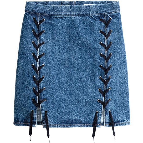 25  best Knee length denim skirt ideas on Pinterest | Denim pencil ...