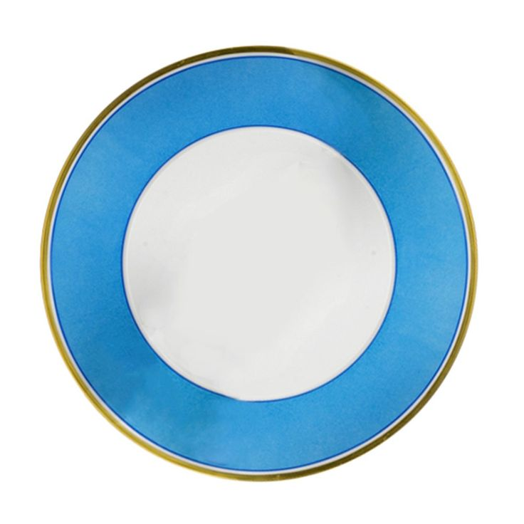 Porcelain Dinnerware Set Sky Blue and Gold | More China | China | Tabletop | ScullyandScully.com