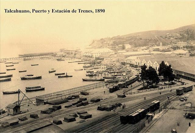 Puerto y Estación de Trenes (1890).