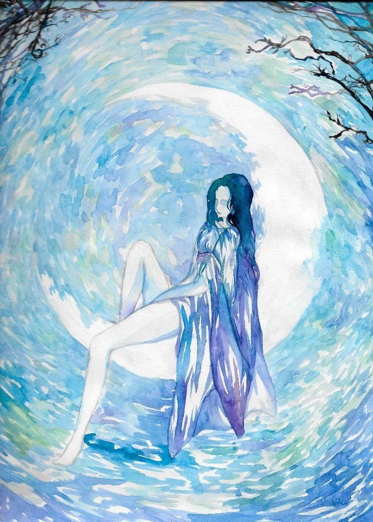 moonlight,요정,달빛 watercolor,수채