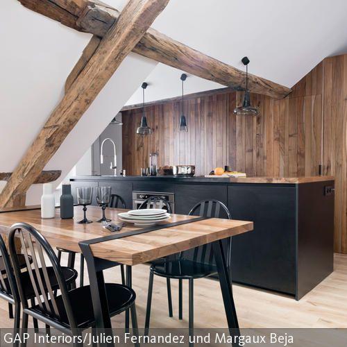 Moderne Küche Mit Holzbalken Aufwerten