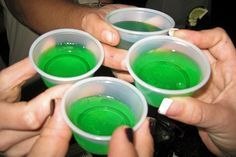 Great instructions for Jello Shots. Gives ratios pending on proof of Vodka... No more Jello shots that are too strong or too weak!!