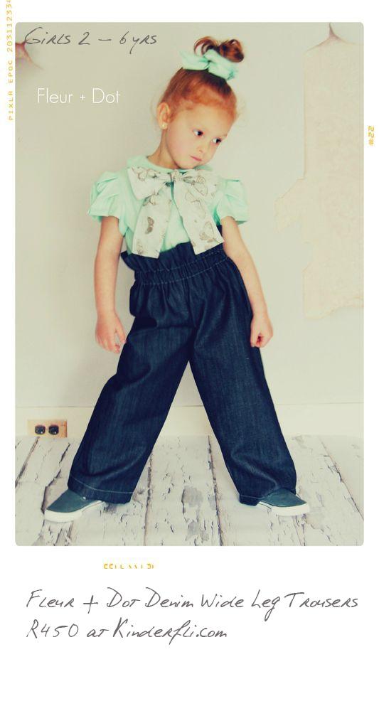 Fleur + Dot Wide Leg Trousers for Girls at Kinderfli.com