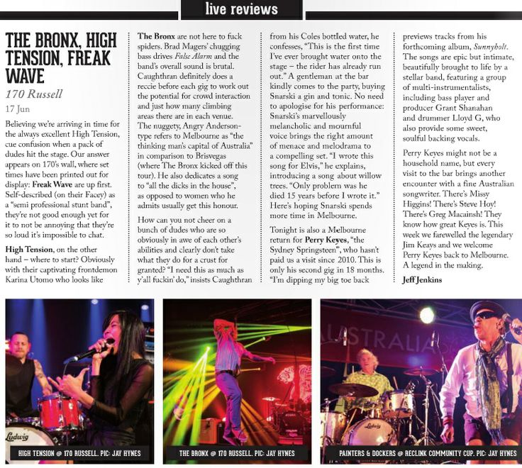The Bronx Live Review - The Music Melbourne, 25.6