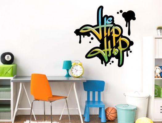 Graffiti Hip Hop Wandworte als Jugendzimmer Wandtattoo