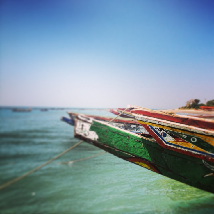 Fishing boats in the Gambia, Africa