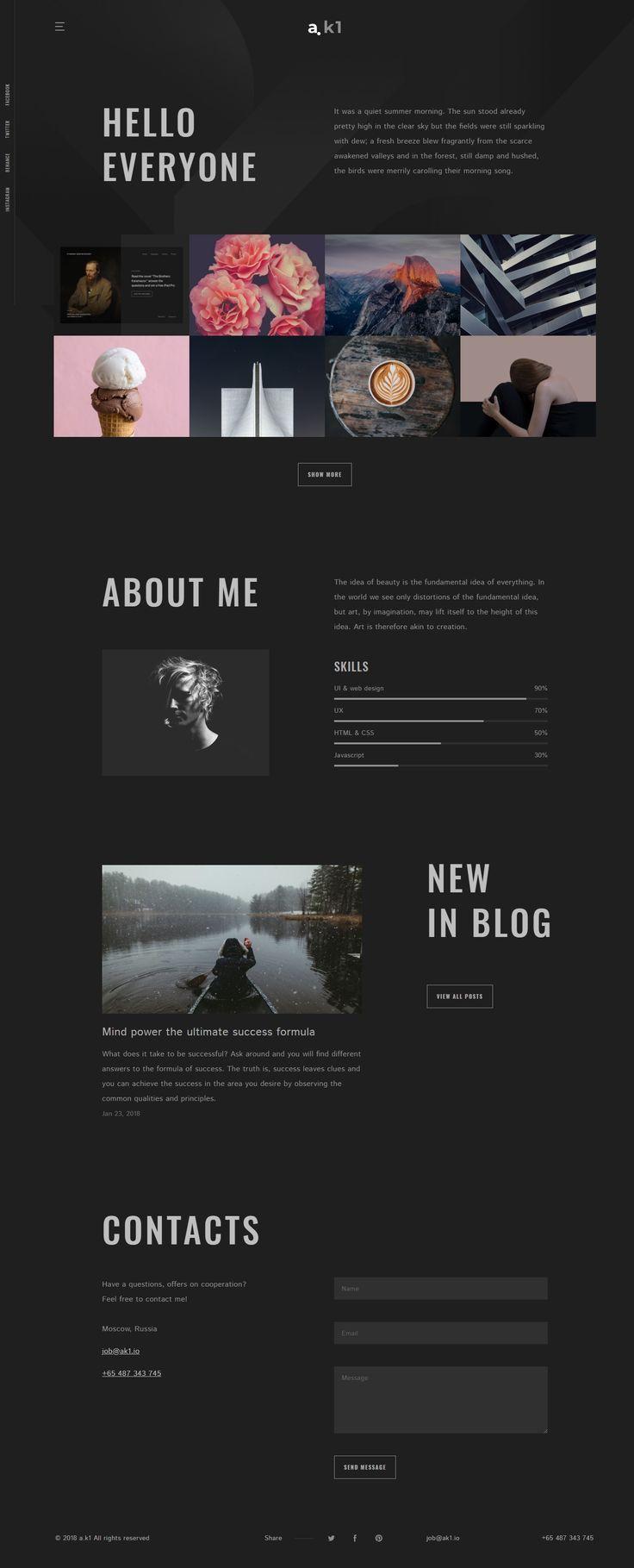 A K1 Creative Portfolio Blog Html5 Template Portfolio Web Design Portfolio Website Design Website Template Design