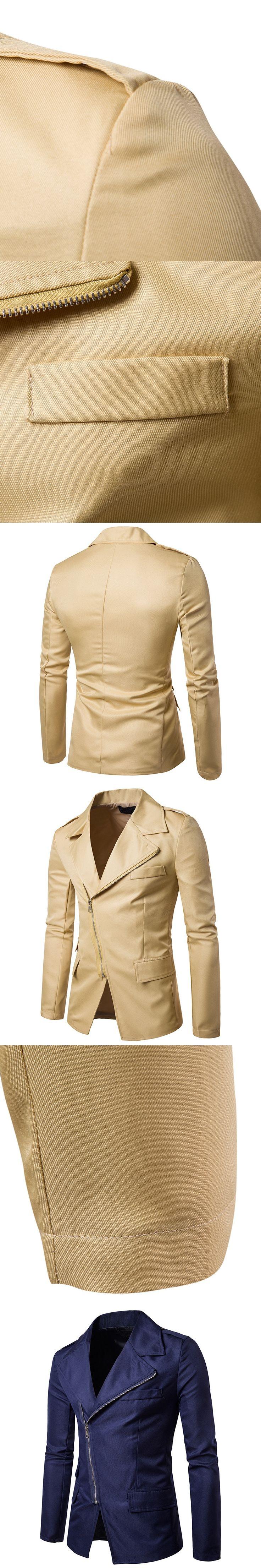 Men Zipper Blazer 2017 Fashion Men Slim Fit Suit Luxury Men Blazer New Spring Autumn Brand High Quality Costume Homme