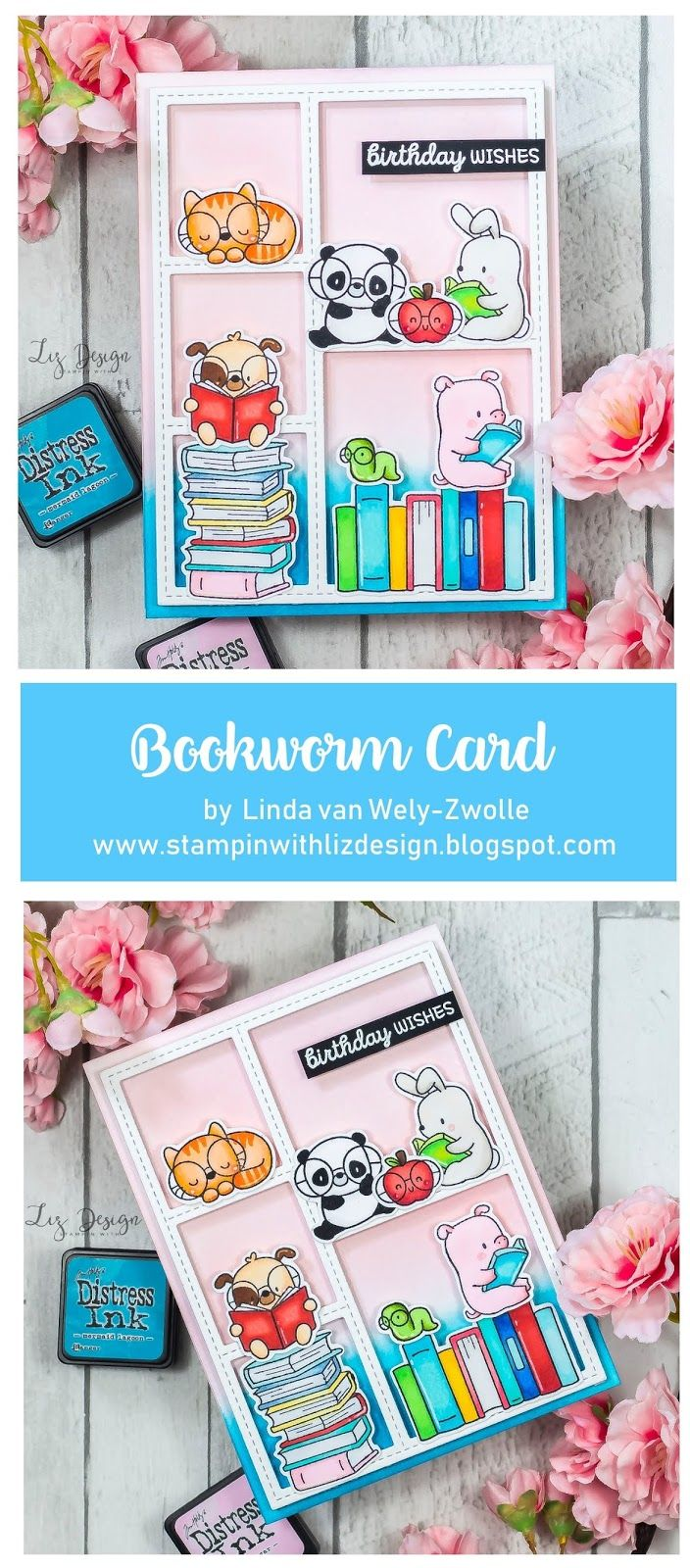 Mama Elephant Book Worm 3d Pop Up Card Elephant Book Mama Elephant Mama Elephant Stamps