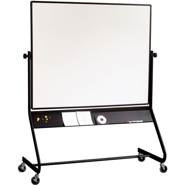 euro frame double sided mobile whiteboard 4u0027 - Rolling Whiteboard