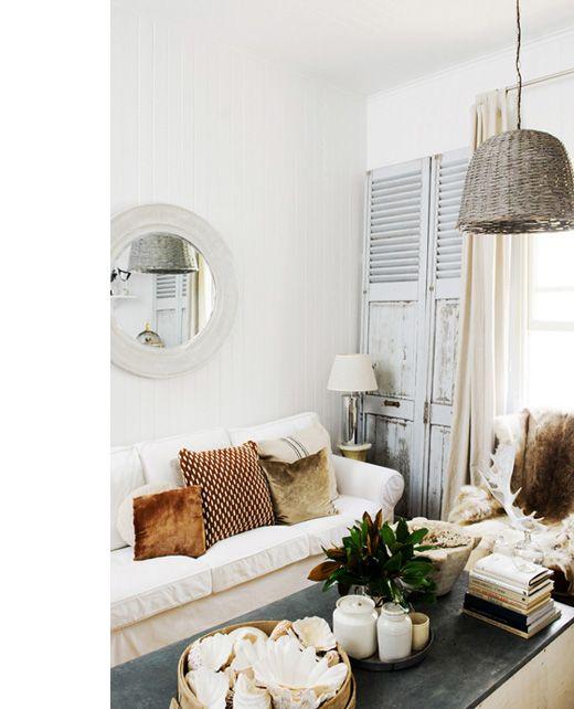 Kara-LivingRoom: Vintage Living Rooms, Decor Ideas, Dream House, Interiors, White, Space, Light, Design
