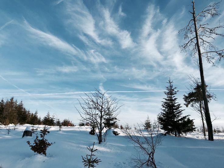 Šumava. The most beautiful landscape. Winter.