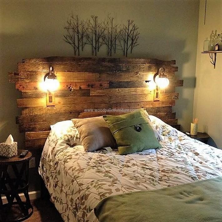 Here is my first pallet project completed a few months ago. A headboard for our guest bedroom:  Adam Morris