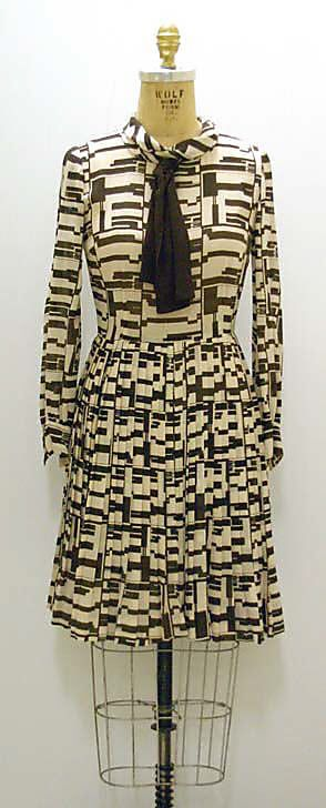 "Dress  House of Chanel  (French, founded 1913)  Designer: Gabrielle ""Coco"" Chanel (French, Saumur 1883–1971 Paris) Date: 1970"