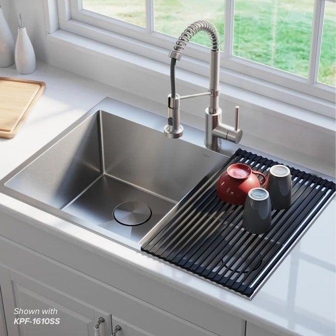 Kraus Standart Pro Dual Mount 33 In X 22 In Stainless Steel Double Equal Bowl 2 Hole Kitchen Sink Lowes Com In 2021 Best Kitchen Sinks Modern Kitchen Sinks Drop In Kitchen Sink