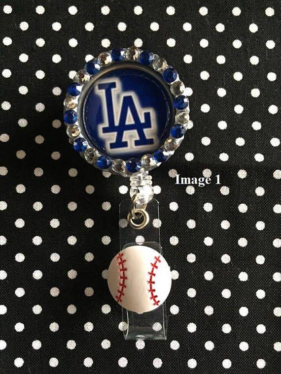 LA Dodgers Retractable I.D. Badge Holders 3 Designs ID Badge