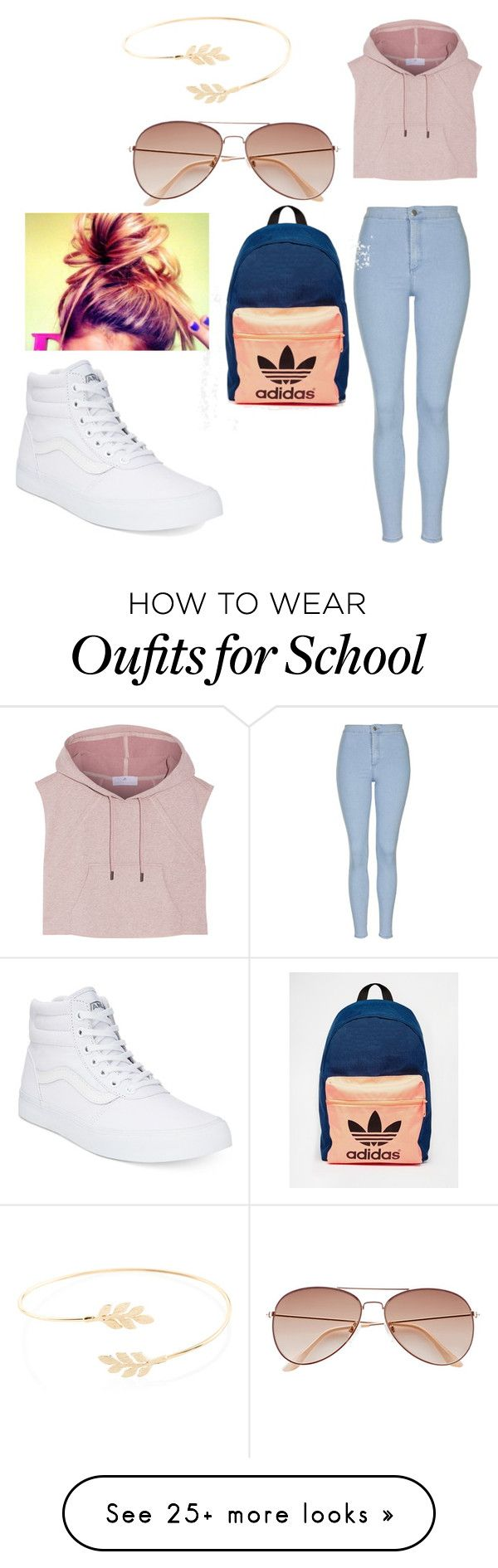 """on my way to school"" by sashten on Polyvore featuring Topshop, Vans, adidas, Accessorize, women's clothing, women, female, woman, misses and juniors"