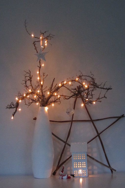 17 best images about ideas decoraci n navidad on for Decoracion con ramas secas
