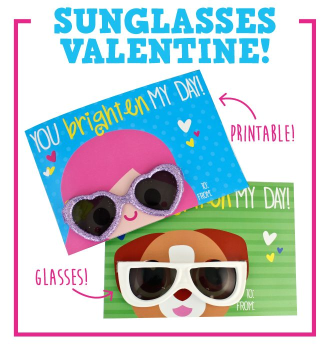 Create IT: Sunglasses Valentine Printables!