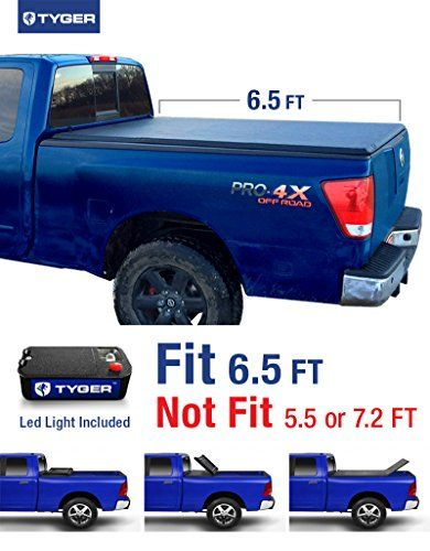 Tyger Auto TG-BC3N1027 TRI-FOLD Truck Bed Tonneau Cover 2004-2015 Nissan Titan | Fleetside 6.5' Bed | For models with or without the Utili-track System. For product info go to:  https://www.caraccessoriesonlinemarket.com/tyger-auto-tg-bc3n1027-tri-fold-truck-bed-tonneau-cover-2004-2015-nissan-titan-fleetside-6-5-bed-for-models-with-or-without-the-utili-track-system/