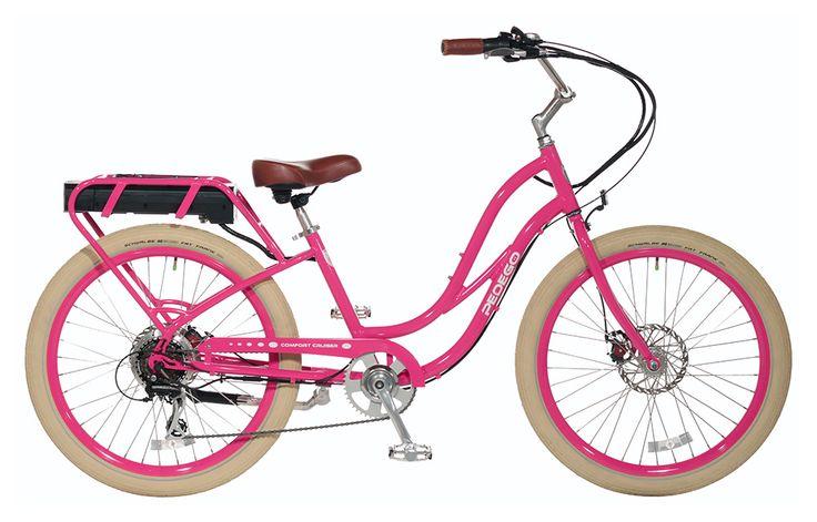 Pedego stepthru comfort cruiser raspberry pink with