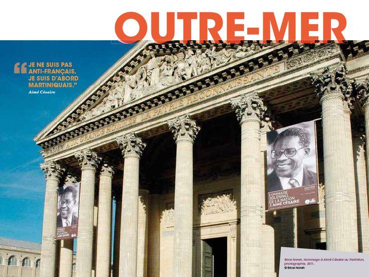 Outre-mer : « Je ne suis pas anti-français, je suis d'abord Martiniquais. » Aimé Césaire | Légende : Brice Noreh. Hommage à Aimé Césaire au Panthéon, photographie, 2011. © Brice Noreh/DR