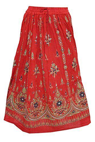 Womens Festive Skirt Red Sequins Ankle Length Crinkle Boh... https://www.amazon.ca/dp/B01N6XL7CT/ref=cm_sw_r_pi_dp_x_nLcLyb9QYWNAB