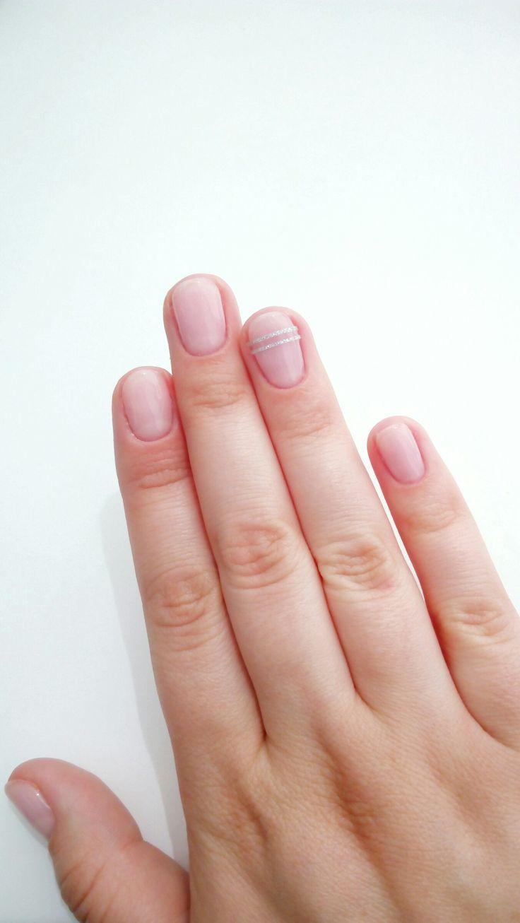 Nude nails Ногти телесного цвета Маникюр Прозрачный лак Маникюр с лентой Нюдовый маникюр