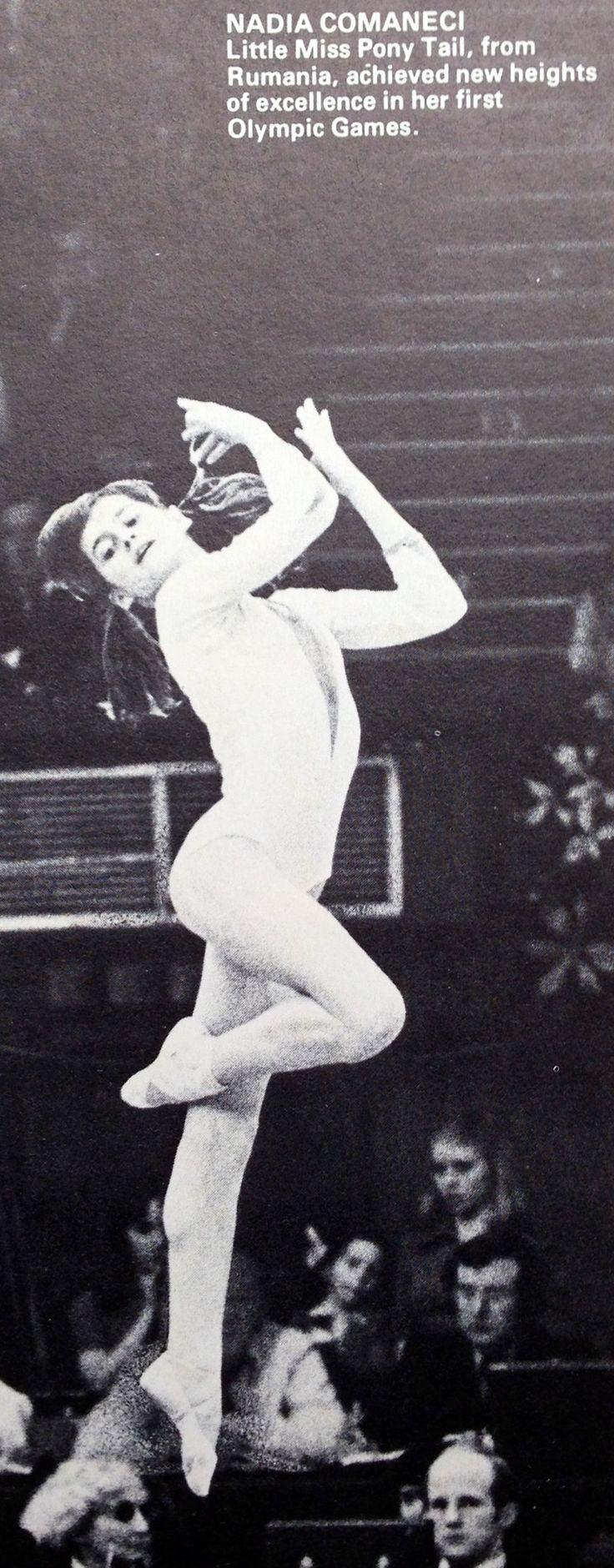"Nadia Comaneci Romania 1970s Gymnastics  ""Little miss pony tail"""