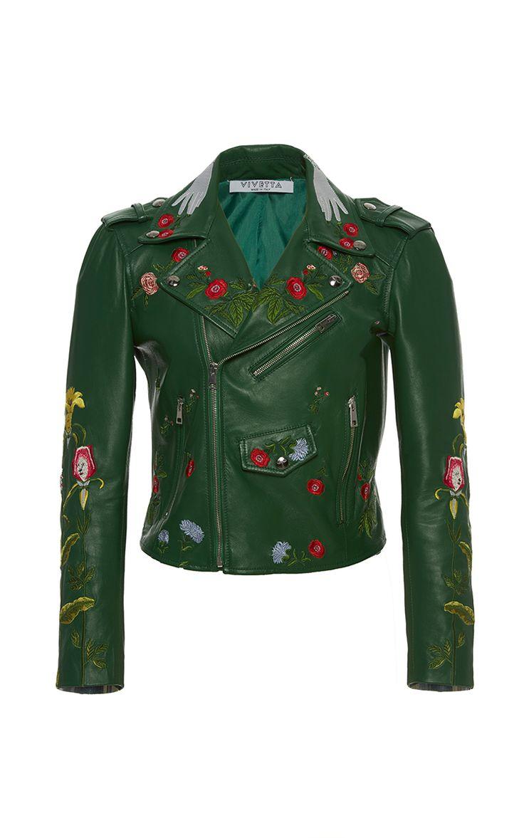 Embroidered Floral Vedova Nera Jacket by VIVETTA for Preorder on Moda Operandi