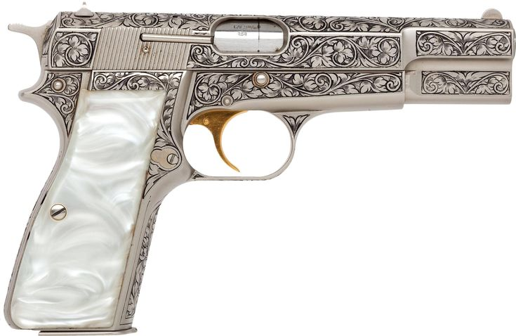 etched guns | Beautifully engraved Browning Renaissance Hi-Power Semi-Automatic ...