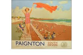 vintage train posters - Coastal Towns