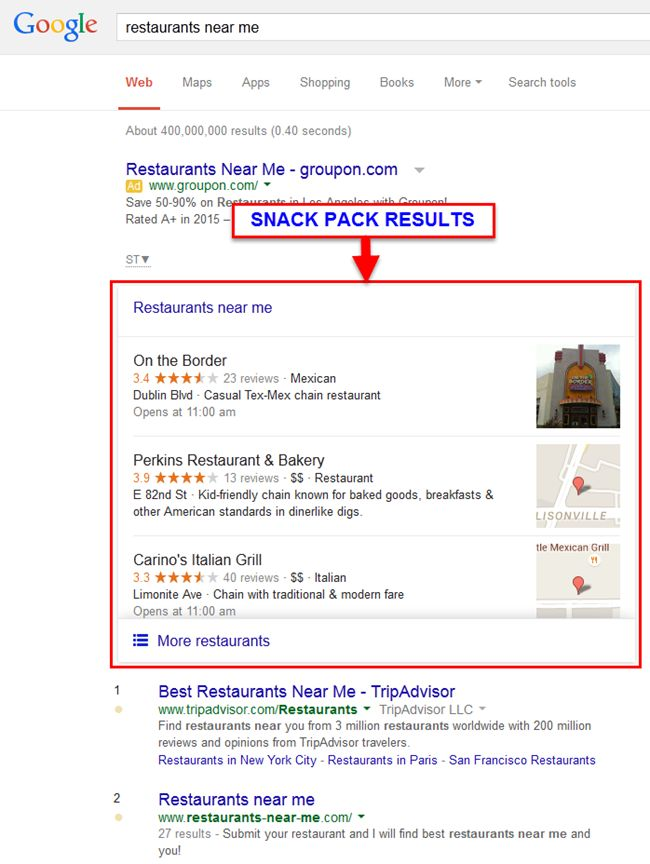 Google SEO Results