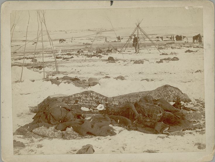 """The spread of smallpox through blankets distributed free to Native Americans and the wanton slaughter of the great herds of bison on which the """"Plains Indians"""" depended for food, clothing and shelter were the most outrageous cases of genocide. Estimates of the numbers killed range up to 100 million."""