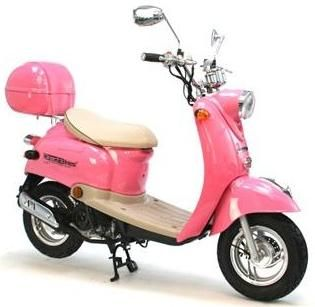It's like a real life Barbie scooter! This is my plan when I no longer need a mini van to run errands! (Probably red, though)