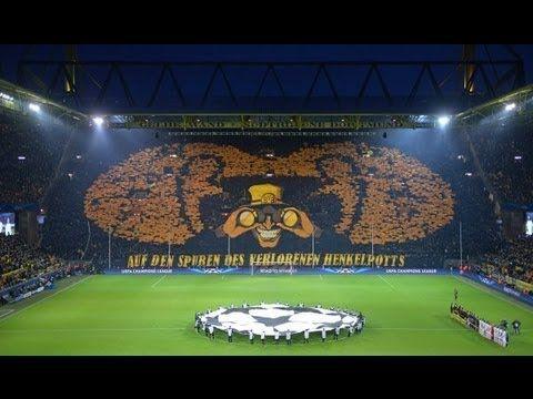 Choreo Südtribüne Borussia Dortmund  - Málaga CF Champions League 3:2 BVB Fans Atmosphere 09.04.2013