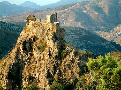 (Ch 20) Lanjaron castle, Andalucia, near to where we took Cocky to live with the hippies.