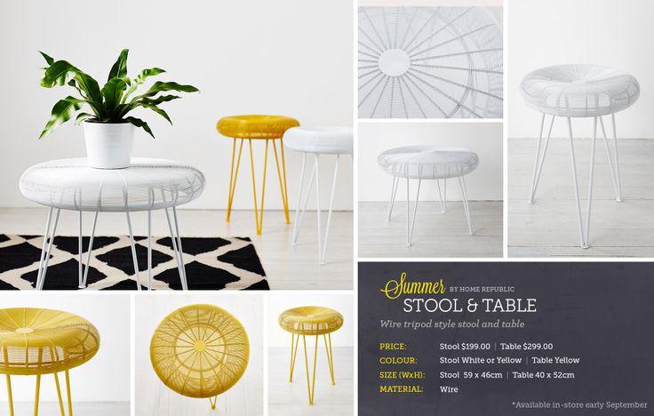 Adairs table $300, stool $200