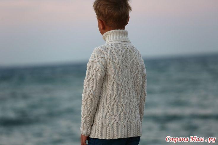 Свитер для мальчика - *Морской узел* от Fioletta.