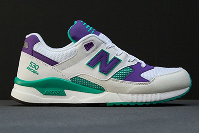 new balance white purple