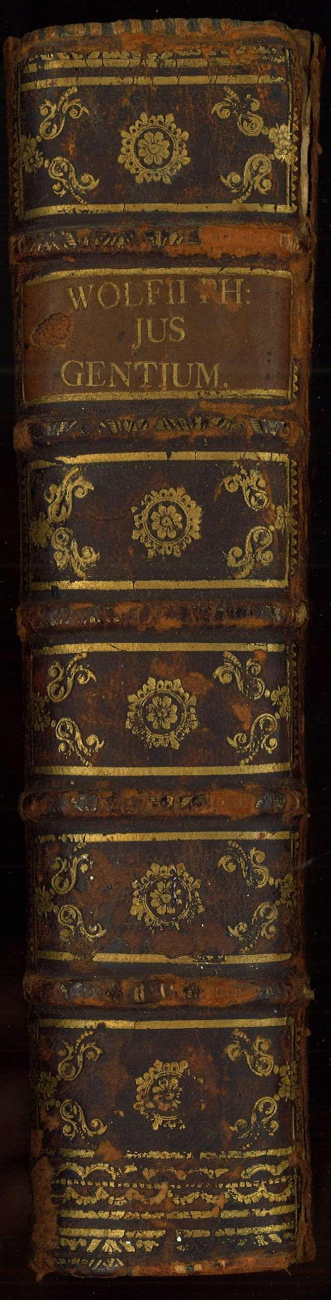 Christian Wolff. Jus Gentium MethodoScientifica Pertractatum. Halae,1749.