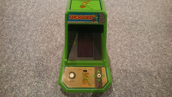 Vintage Frogger Mini Arcade Electronic Game by Coleco