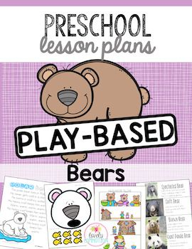 Bears, bears, we love bears!  This unit covers types of bears, story about bears and bear activities for preschool.