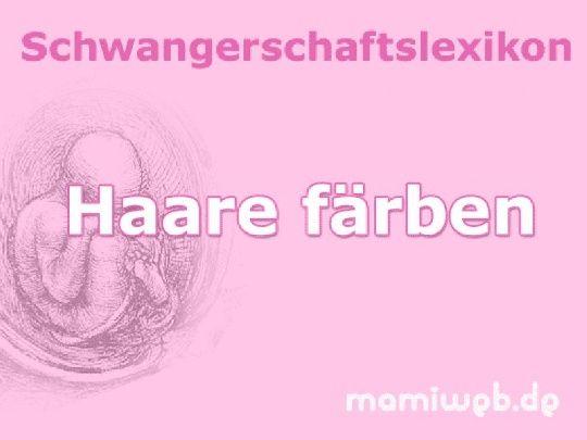 Mamiweb.de - Haare färben in der Schwangerschaft