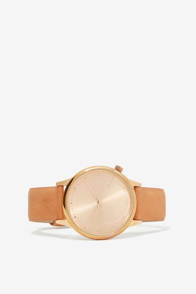 Komono Estelle Leather Watch - Seashell